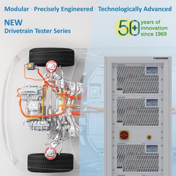 Regatron G5.DT / TC.ACS - Testing Powertrain components or the Complete Drivetrain