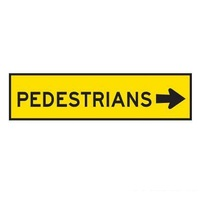 TMG Pedestrian Right Sign - 1200x300 - Corflute-Shop Work Zone Tools Online