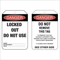 TMG Lock Out Tags (Pkt of 25) Heavy Duty PVC Tags (Pkt of 25) - Danger Locked Out Do Not Use