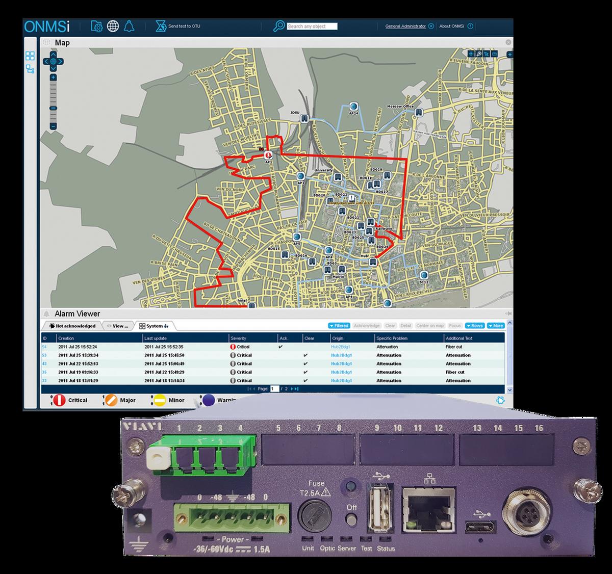 VIAVI ONMSi  Remote Fiber Test System (RFTS)