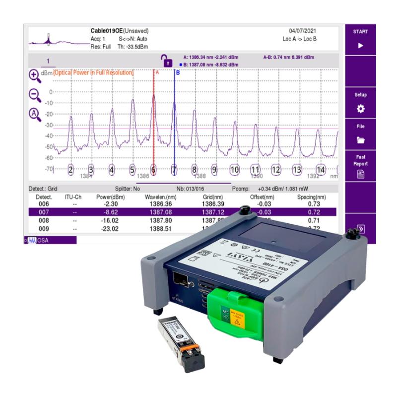 VIAVI Nano OSA Modules - 4100-Series Optical Spectrum Analyser