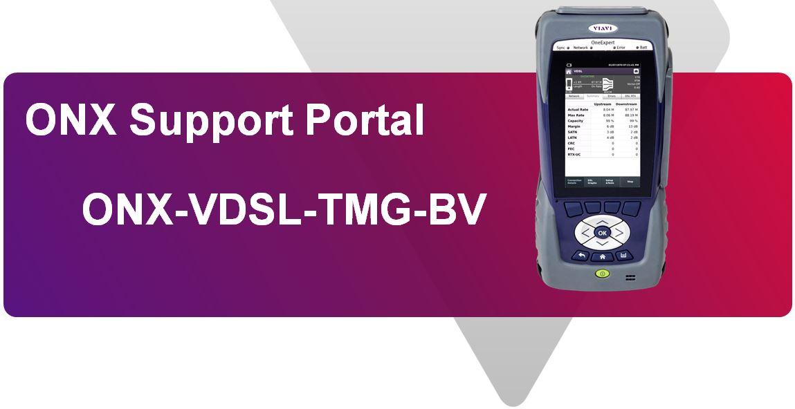 Support Page for VIAVI/JDSU ONX-580 VDSL Tester