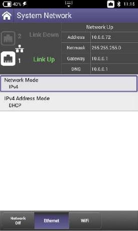 VIAVI ONX-620 Ethernet Screenshot