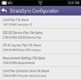 VIAVI ONX-620 StrataSync Configuration Screenshot